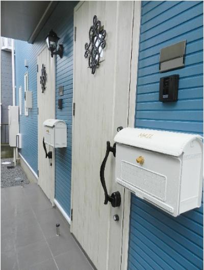 建物入口ドアとポスト