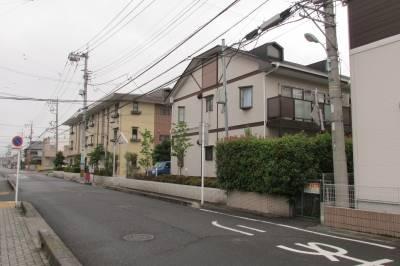 広々敷地に建物があります。