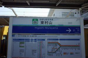 東村山駅名標